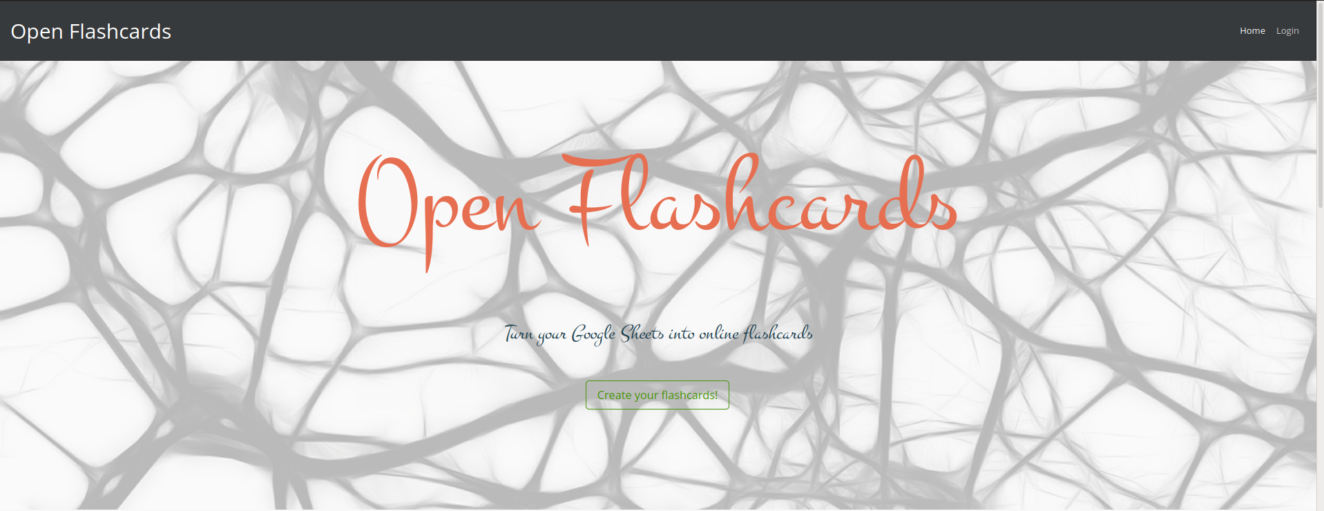 open flashcards